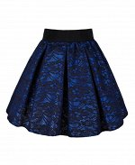 Синяя юбка для девочки Цвет: синий