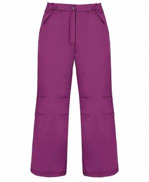 Фиолетовые брюки для девочки Цвет: фиолетовый