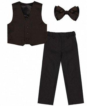 Комплект-тройка для мальчика серого цвета Цвет: тёмно-серый