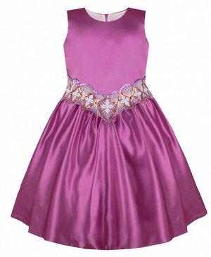 Пурпурное платье для девочки Цвет: пурпурный