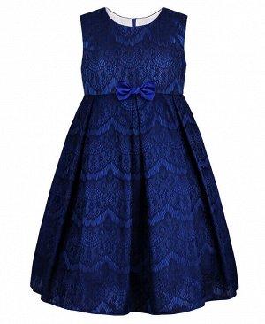 Синее нарядное платье для девочки Цвет: синий