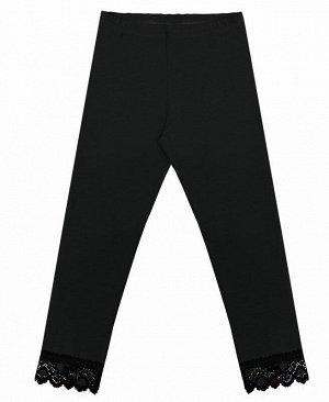 Черные леггинсы для девочки Цвет: черный