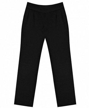 Школьные черные брюки для девочки Цвет: черный