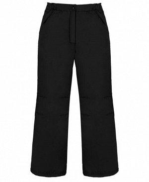 Теплые штаны для девочки черный,рост 128-158 Цвет: черный