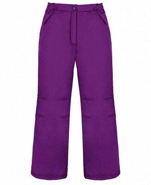 Теплые штаны для девочки на осень-весну Цвет: фиолет