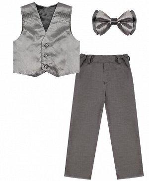 Серебристо-серый комплект-тройка для мальчика Цвет: серебристо-серый