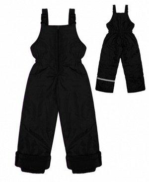Зимний детский полукомбинезон черный Цвет: черный