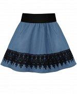 Школьная юбка для девочек Цвет: голубой