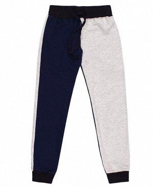 Спортивные синие брюки для девочки Цвет: тёмно-синий