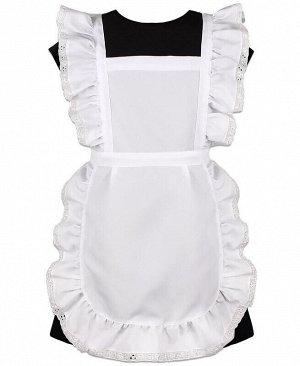 Белый школьный фартук для девочки Цвет: белый