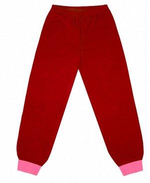 Брюки трикотажные красные для девочки Цвет: красный