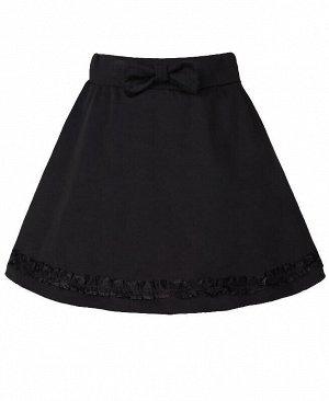 Чёрная школьная юбка для девочки Цвет: черный