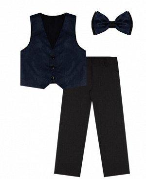 Костюм нарядный для мальчика Цвет: чёрн+т.синий