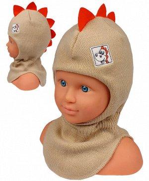 Шапка-шлем для мальчика Цвет: бежевый