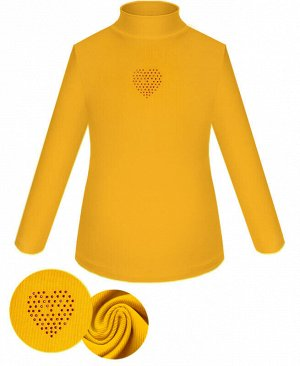 Желтая водолазка для девочки Цвет: т.желтый