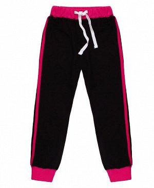Чёрные спортивные брюки для девочки Цвет: черный
