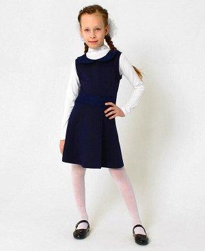 Синий школьный сарафан для девочки Цвет: синий