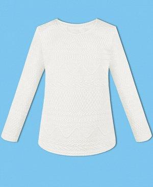 Белый джемпер (блузка) для девочки Цвет: белый