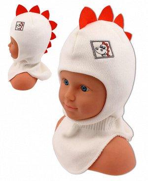 Шапка-шлем для мальчика Цвет: молочный