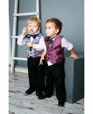 Костюм нарядный для мальчика Цвет: черн+лиловый