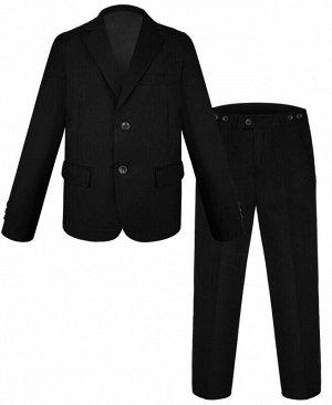 Черный школьный костюм для мальчика Цвет: черный