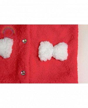 Комплект для девочки из велсофта Цвет: коралл