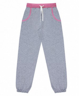 Серые спортивные брюки для девочки Цвет: серый меланж