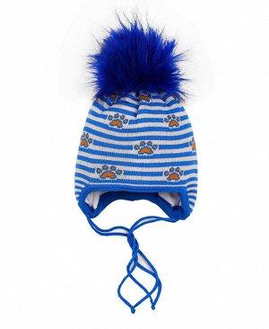 Шапка зимняя для мальчика Цвет: голубой