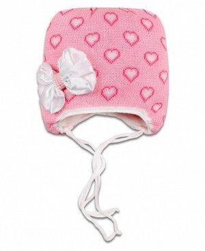 Шапка зимняя для девочки Цвет: розовый
