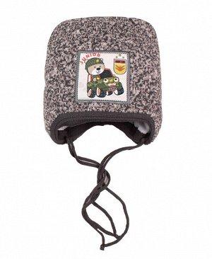 Детская зимняя шапка для мальчика Цвет: серый