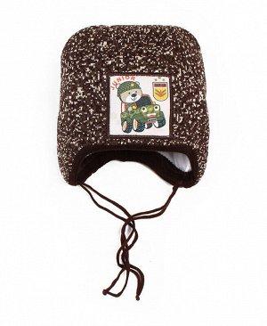 Детская зимняя шапка для мальчика Цвет: коричневый
