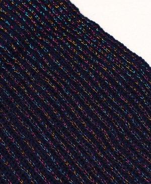 Комплект для девочки (шапка + снуд) Цвет: синий