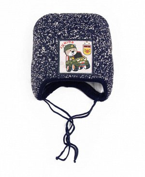 Детская зимняя шапка для мальчика Цвет: т.синий