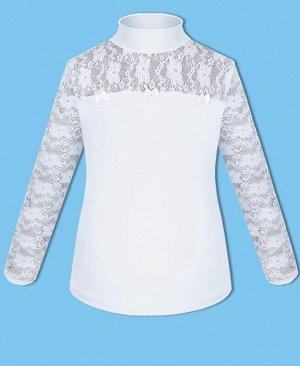 Белая школьная водолазка для девочки Цвет: белый