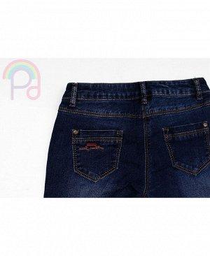 Брюки синие джинсовые для девочки Цвет: синий