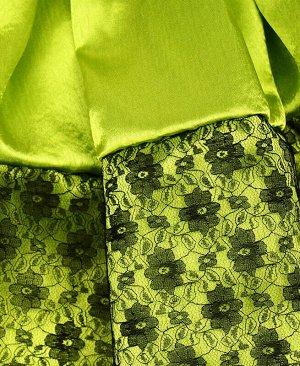 Нарядная юбка для девочки в складку Цвет: салатовый