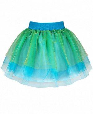 Нарядная бирюзовая юбка из сетки для девочки Цвет: бирюзовый