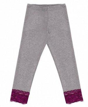 Серые леггинсы для девочки Цвет: серый