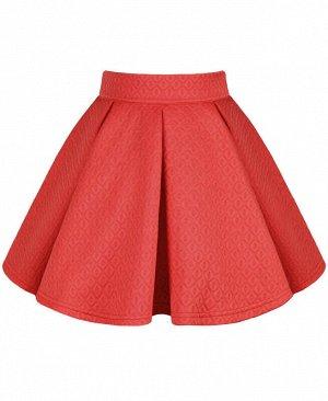 Коралловая юбка для девочки Цвет: коралловый