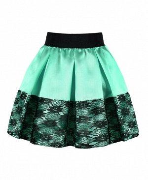 Нарядная бирюзовая юбка для девочки Цвет: бирюзовый