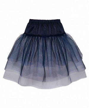 Синий подъюбник(юбка) для девочки Цвет: синий