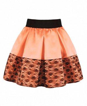 Персиковая юбка для девочки Цвет: оранжевый