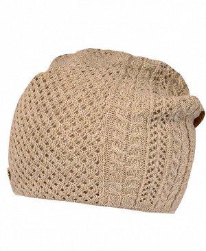Коричневая шапка для девочки Цвет: коричневый