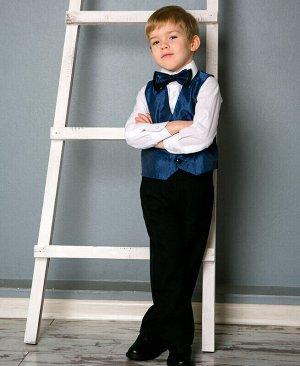 Костюм нарядный для мальчика Цвет: черн+син