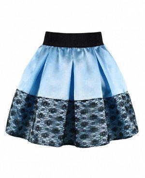 Голубая юбка для девочки Цвет: голубой
