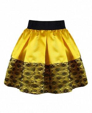 Жёлтая юбка для девочки Цвет: жёлтый