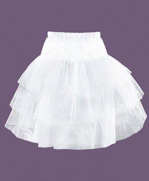 Белый подъюбник (Юбка) для девочки Цвет: белый