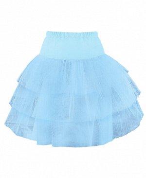 Голубой подъюбник(юбка) для девочки Цвет: голубой