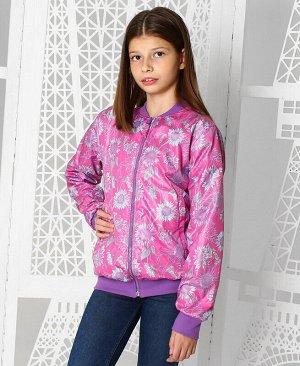 Пурпурная ветровка для девочки Цвет: пурпурный