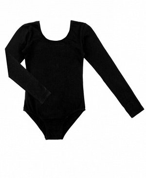 Купальник гимнастический с рукавом 3/4 Цвет: черный